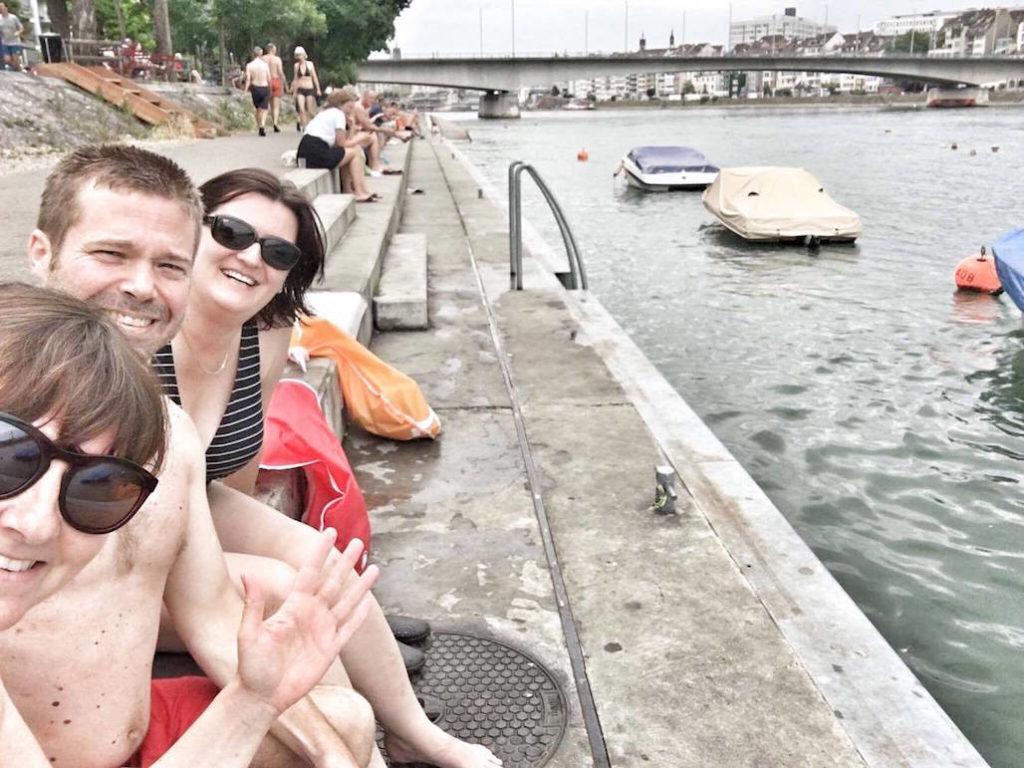 schwimmen Rhein Basel