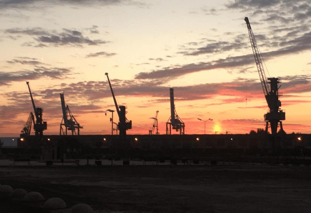 Sonnenaufgang Stettiner Haff