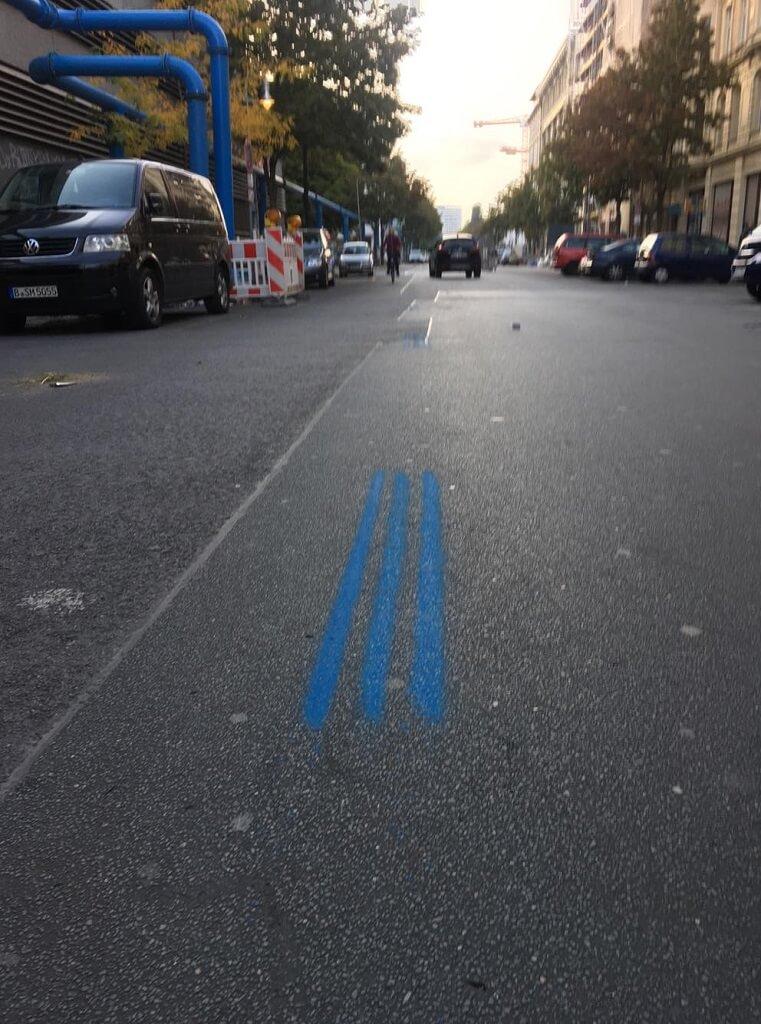blaue Linien Barlin Marathon