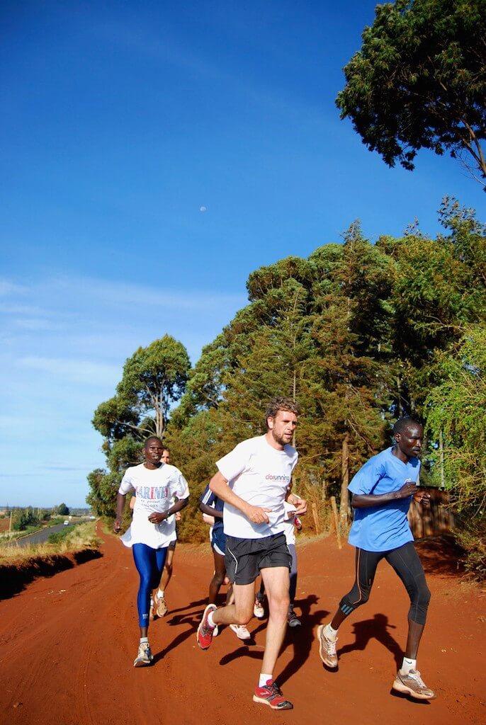 laufen mit kenianern