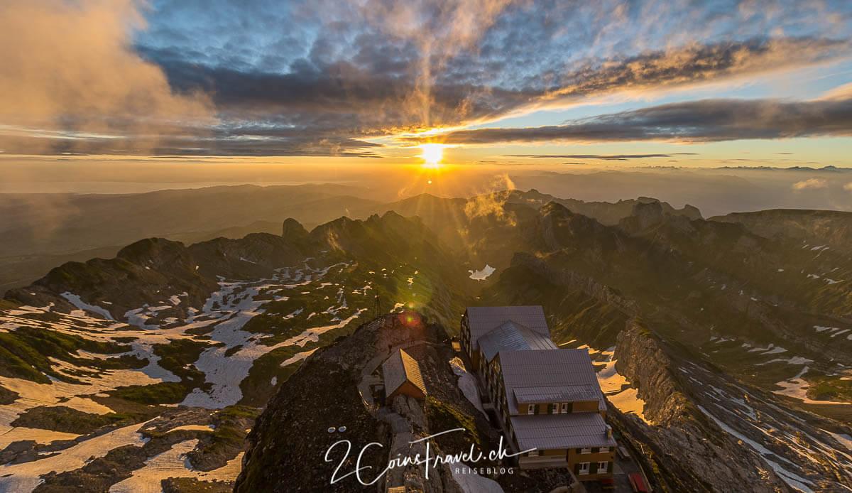 Sonnenaufgang Säntis Schweiz