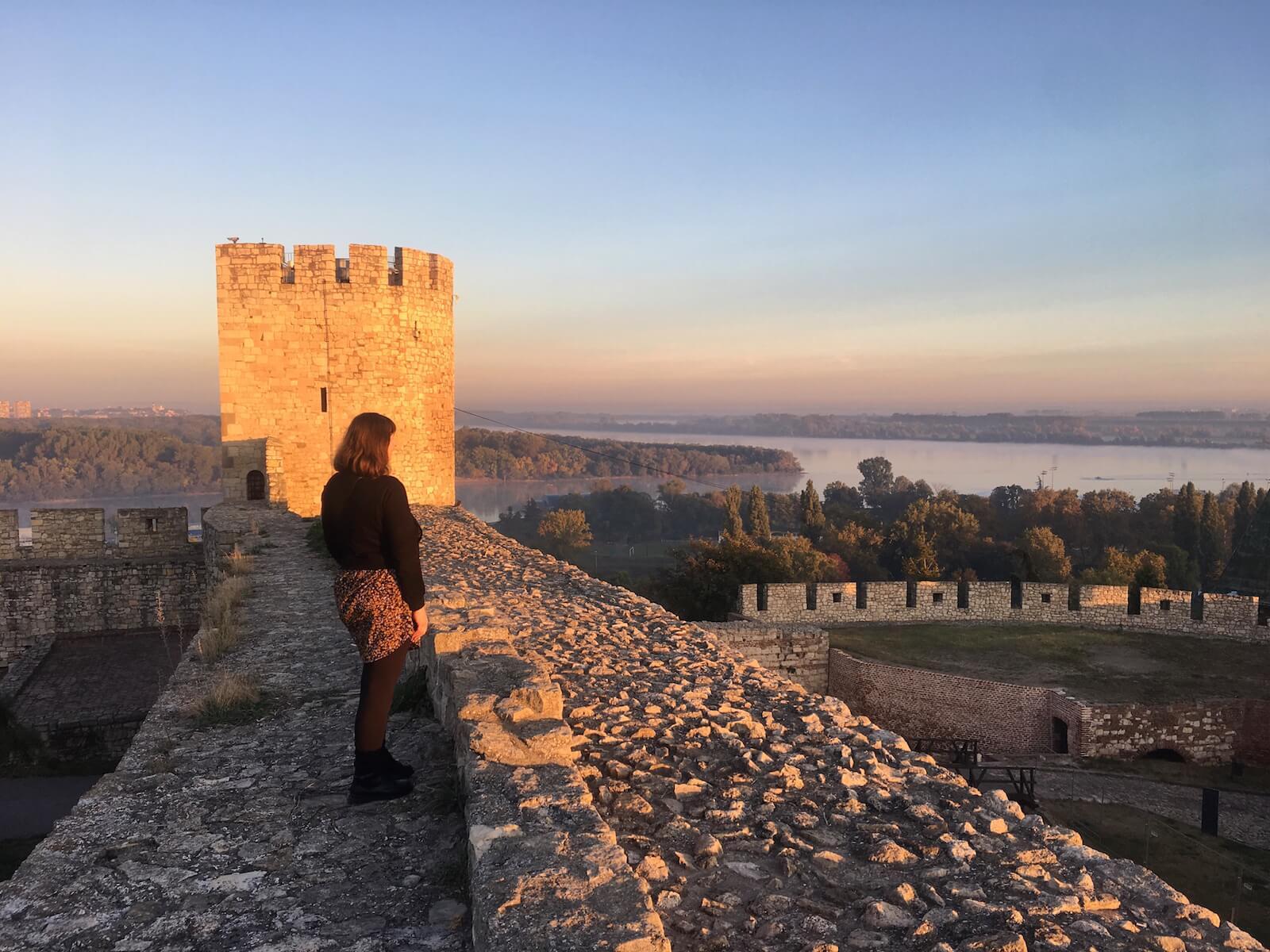 Sonnenaufgang Festung Belgrad