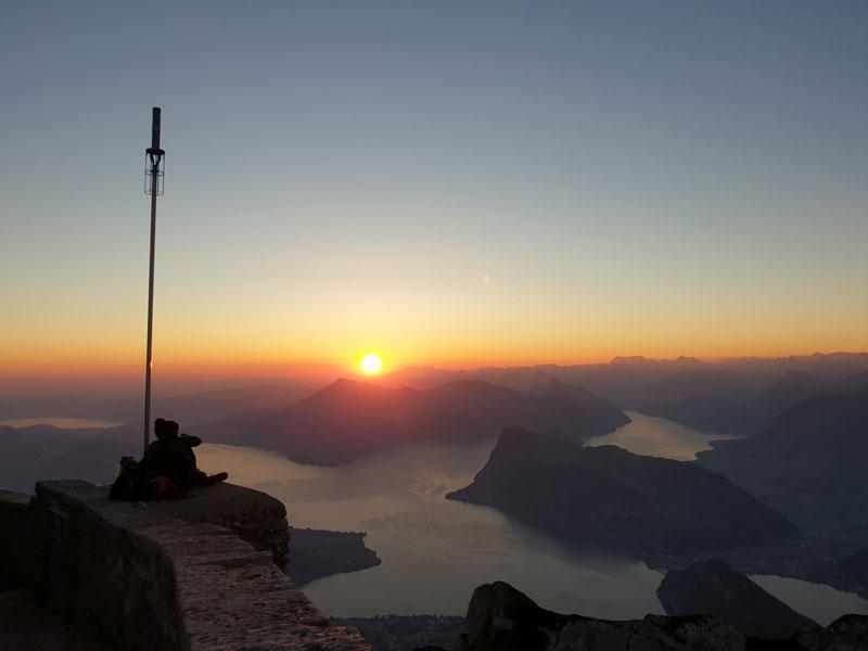 Sonnenaufgang Pilatus Schweiz