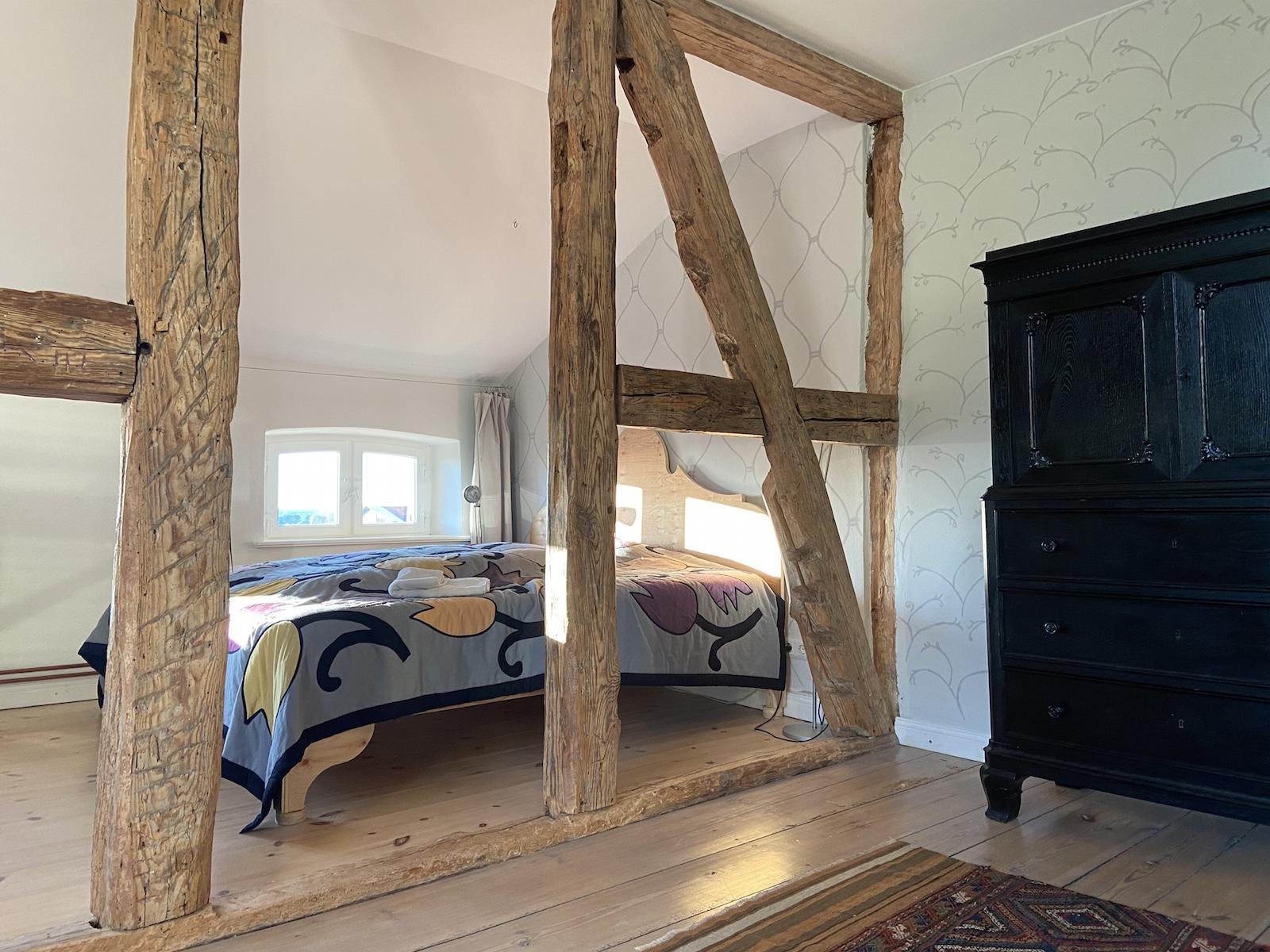 Schlafzimmer Ferienwohnung Gut Pohnstorf