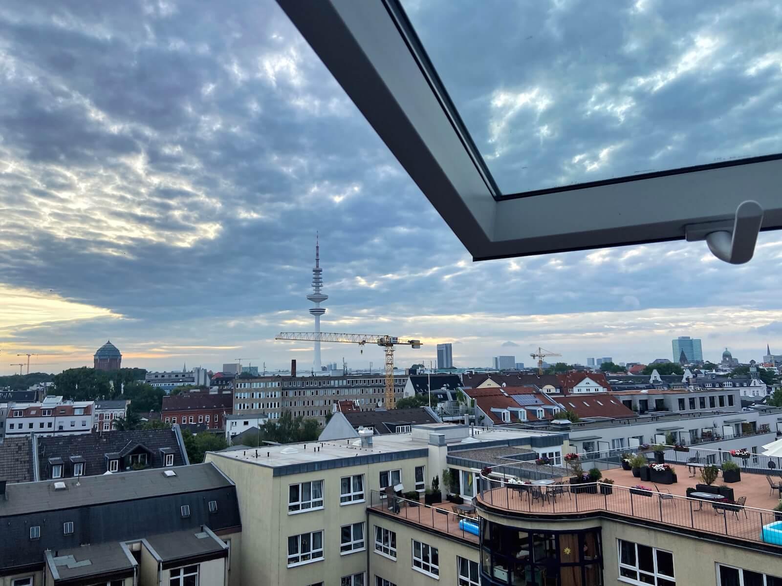 Ausblick Superbude St Pauli