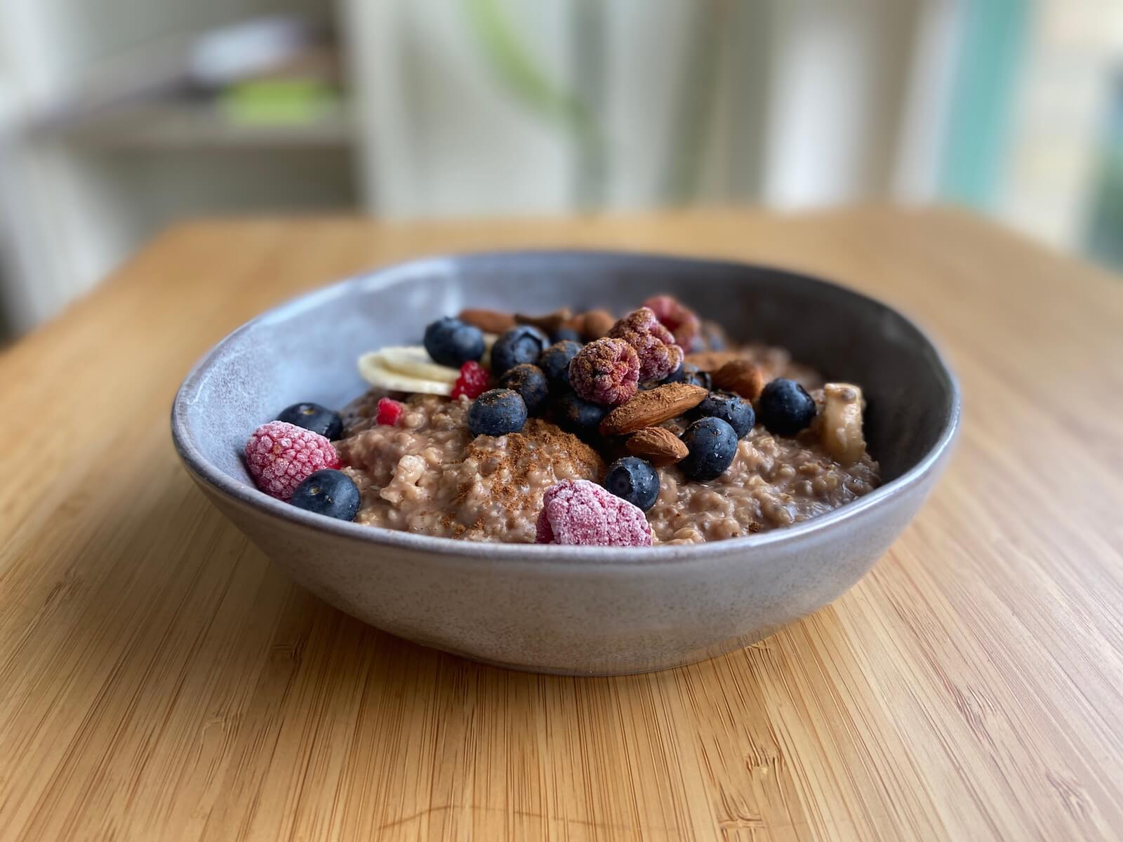 porridge morgenroutine