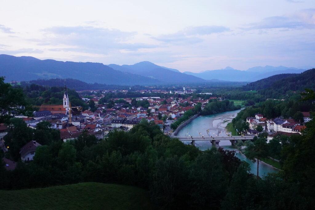 Ausblick Bad Tölz Kalvarienberg